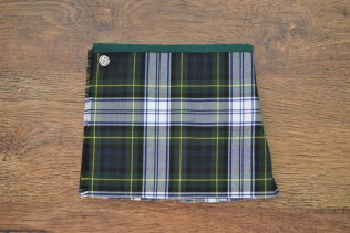 Boy's deluxe kilt, made from polyviscose, and not wool, so it is machine washable and softer against the skin. It closes with a popper and a button, both of which can be moved along the inner front panel to increase the life of the kilt. Available up to age 3 and can be made from any of the tartans I have in stock. You also have the added option of choosing a specific tartan, changing to leather buckles instead of the button and popper, or if you would prefer your kilt made from wool (providing I can source the fabric!) These options may increase the price so please message me for a quote. 0-12 months: £20, 12-24 months: £21, 2-3 years: £22, plus p&p.
